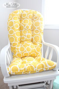 Custom Chair Cushions/ Glider Cushions/ Rocking Chair Cushions/ Glider  Replacement Cushions