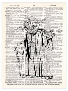 Yoda Star Wars Print by TheRekindledPage