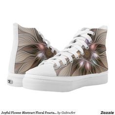 Joyful Flower Abstract Floral Fractal Art Printed Shoes
