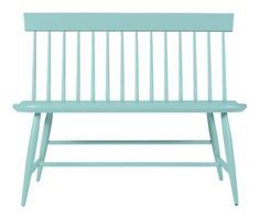 Margaret Bench in Porch | Maine Cottage | #colorfulfurniture