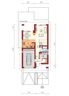 Riko G1 - projekt domu - Archipelag Modern House Design, My House, House Plans, Floor Plans, How To Plan, Women's Fashion, American Houses, Cottage, Little Cottages
