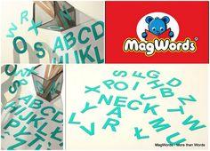26 TURKUSOWE Literki Magnetyczne dla Dzieci - ABC w MagWords - More than Words na DaWanda.com