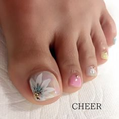 Pedicure Nail Designs, Manicure E Pedicure, Toe Nail Designs, Pretty Toe Nails, Cute Toe Nails, Love Nails, Toe Nail Color, Toe Nail Art, Nail Colors