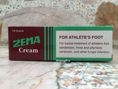 ZEMA CREAM Foot Candidiasis Versicolor Athlete Tinea Pityriasis Anti Fungal 10g #ZEMA