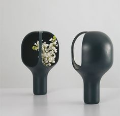 Benjamin Graindorge'scolourful series of ceramicHeirloomvases designed for Moustache have an interesting take on floral display with their curved and hooded tops that wrap over and around the blooms they hold. via Design Pilgrim http://designpilgrim.com.au/portfolios/moustache