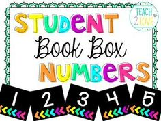 FREE Student Numbers 1-32 - Neon Bright colors! Perfect for book boxes, centers, cubbies, etc!