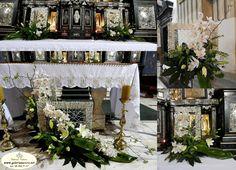 storczuk cymbidium dominikanie Gerbera, Flower Arrangements, Iglesias, Table Decorations, Furniture, Google, Home Decor, Floral Design, Weddings