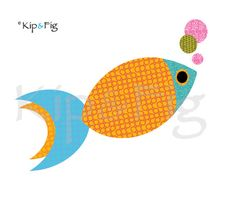 fish applique template - two fish applique design. £2.00, via Etsy. © Kip & Fig 2012