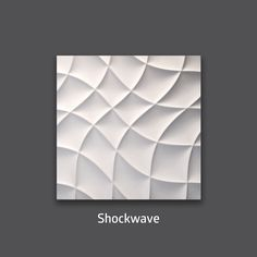 Style and Fantasy. Shockwave 3D Wall Tile by #TexturalDesigns #SculpturalTile #3DTile #Wallcoverings