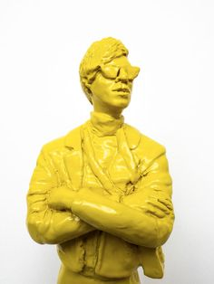 Available for sale, 'The Warhol Affect Yellow' by contemporary South African sculptor Jonathan van der Walt, size x Secure online purchase & delivery to door. Andy Warhol Pop Art, Resin Sculpture, Original Art, Van, African, Statue, Yellow, Gallery, Artwork