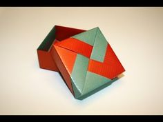 Awesome Oragami Box with Lid!  If you make this with scrapbook paper it will be very sturdy and stay together!