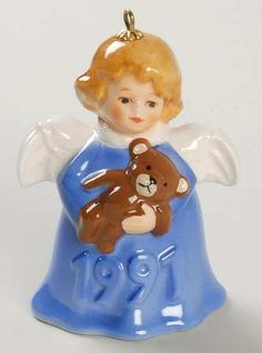 GoebelAngel Bell Ornament at Replacements, Ltd (ALSO IN ALL WHITE & RED)
