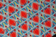 0,5 m 'DUTCH LOVE5' hamburger liebe orange/blau - NEU EINGETROFFEN! by kleinerStern - Heart Print Fabric - Patterned Fabric - DaWanda
