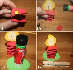 Christmas wreath tinker with children - 10 paper craft ideas- Adventskranz basteln mit Kindern – 10 Bastelideen aus Papier Advent wreath tinker children paper candle fold clothespin - Handmade Christmas Decorations, Christmas Wreaths, Christmas Crafts, Diy Crafts To Do, Paper Crafts For Kids, Egg Carton Crafts, Clothes Pegs, Fold Clothes, Advent Wreath