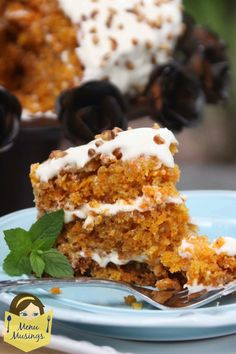 Super Amazing Carrot Cake that is super moist and tender, loaded with coconut and pineapple, then topped with a cream cheese frosting and chopped pecans.  Step-by-step photos!  <3