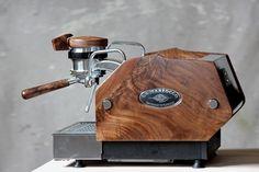Custom Made Custom Wood Panels For La Marzocco Espresso Machine Cappuccino Maker, Espresso Maker, Coffee Maker, Cappuccino Coffee, Coffee Shops, Coffee Type, Best Coffee, Coffee Set, Coffee Mugs