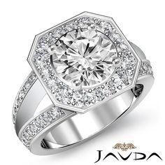 3 Carat Round Cut Halo Diamond Engagement Ring Si1/f White Gold 14k 6124 Engagement Rings Diamond