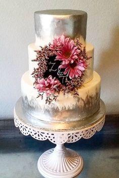 18 Simple Romantic Wedding Cakes ❤ See more: http://www.weddingforward.com/simple-romantic-wedding-cakes/ #weddings #cake
