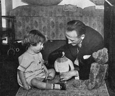 A. A. Milne and Christopher Robin