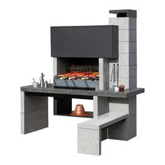 Barbecue Design 2020 – How long do you let charcoal burn before cooking? - Home Ideas Outdoor Barbeque, Barbecue Area, Bbq, New Jersey, Barbeque Design, Room Wall Painting, Southern Living Homes, O Gas, Fire Pit Backyard
