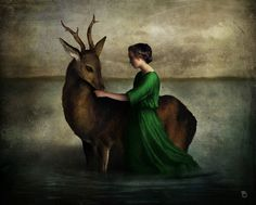 'The Beloved Deer' by Christian  Schloe on artflakes.com as poster or art print $20.79