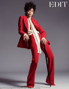 U Got The Look! Actress Zoe Saldana channels late rocker Prince in her latest shoot for Th...