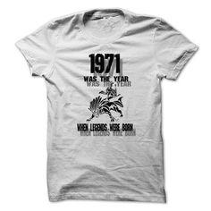 Legend 1971 ... 999 Cool Year Shirt ! - #wedding gift #shirt prints. MORE INFO => https://www.sunfrog.com/LifeStyle/Legend-1971-999-Cool-Year-Shirt-.html?id=60505