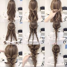 Easy pretty hairstyle!  Only a few minutes to have an amazing hair looking ^_^ ^_^  #hairstyles #hair #remyhumanhairextensions #remyhair #nike #fashionblogger