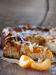 Kuchenevolution oder Mandel-Aprikosen-Kuchen mit Safran