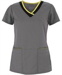 Grey's Anatomy Scrubs JUNIOR Fit Color Block Top
