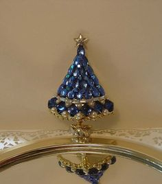 Items similar to Mid Century Sapphires - Pearls and Diamonds Holiday Christmas Tree Brooch on Etsy Christmas Trimmings, Christmas Holidays, Jeweled Christmas Trees, Xmas Trees, Jewelry Tree, Jewelry Box, Jewlery, Jewelry Website, Christmas Jewelry