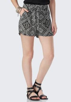 Cato Fashions Geometric Havana Soft Shorts #CatoFashions