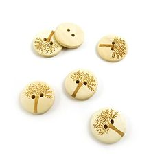 430 Pieces Sewing Clothing Buttons Sew On Wooden Wood Knopfe BB2222 Tree Round Colorful Plush Lovely Accessory Decoration Handmade Cute Scrapbook Flatback DIY ** Read more reviews of the item by visiting the link on the image.