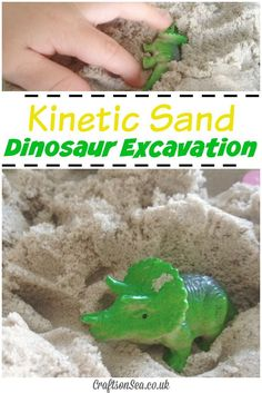 Kinetic Sand Dinosaur Excavation - Crafts on Sea