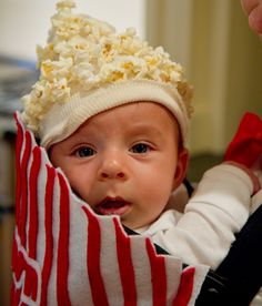 Popcorn Halloween Costume -too cute  #Baby #Halloween #Costumes