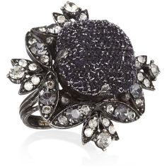 Lanvin Swarovski crystal ring ($340) ❤ liked on Polyvore