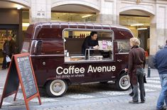 A new brand of coffee experience is warming the chilly city Brussels. Coffee Avenue is a beautifully restored VW that braves the chilly Belgium weather bringing hot drinks on wheels to warm the hearts. '. They great example of how small brands can be big on personality. #MobileRetail #Brussels