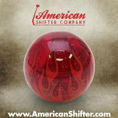 Red Flame Custom Shift Knob Translucent with Metal Flake « americanshifter.com