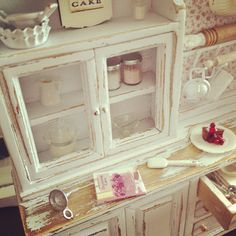 Cottage shabby baking hutch 1:12 | Flickr - Photo Sharing!