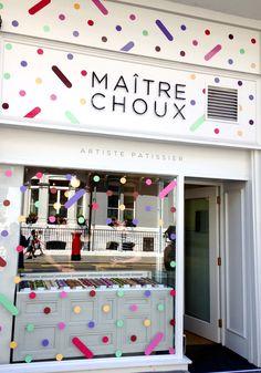 Amazing éclairs at Maître Choux an impressive shop front. #commercialconstruction
