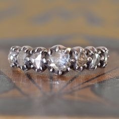 Victorian Engagement Ring-Unique Engagement Ring-Vintage Wedding Ring-Rose Cut Diamond Ring- Diamond Stacking Ring - Promise Ring - 1800s by EngagedWithDiamonds on Etsy https://www.etsy.com/listing/210149789/victorian-engagement-ring-unique