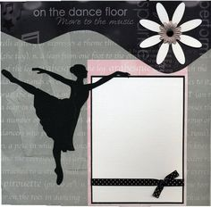 Tap dance scrapbooking die cut overlay black for 1 2 3 4 get on the dance floor mp3