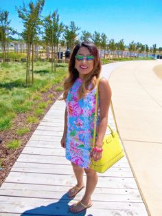 Heart sunnies and Lilly Pulitzer.