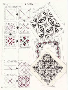 In January, I started to use Carol Ohl`s Zentangle calendar and challenged me to draw each day a tangle which is new to me / which I never ...