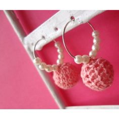 crochet pearl baby pink - Online Shopping for Earrings by Stop and Stare Fashion Jewellery