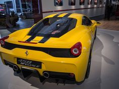 Yellow Ferrari 458 Speciale at Ferrari World Finals 2013