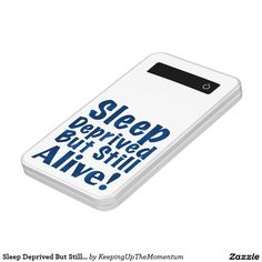 Sleep Deprived But Still Alive in Dark Blue Power Bank