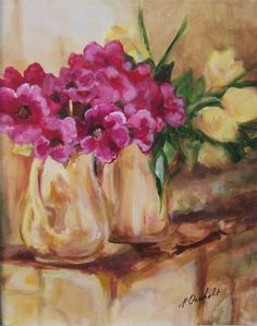 Still Life  Original Acrylic Painting by TWOCOASTALARTISTS, $225.00  Free Shipping