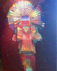 "Tony Abeyta ""Night II""  Mixed Media on Canvas. ~Art that Inspires~"