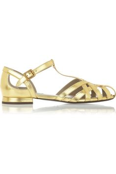 Metallic leather sandals // Marc Jacobs